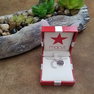 I Love You To The Moon And Back Diamond Pendant